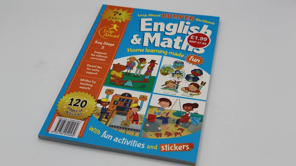 English & Math Bumper Workbook 7+ - 00096
