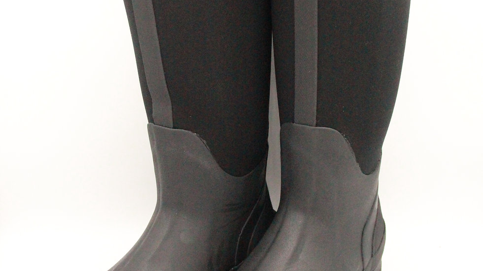 Black Neoprene Boots