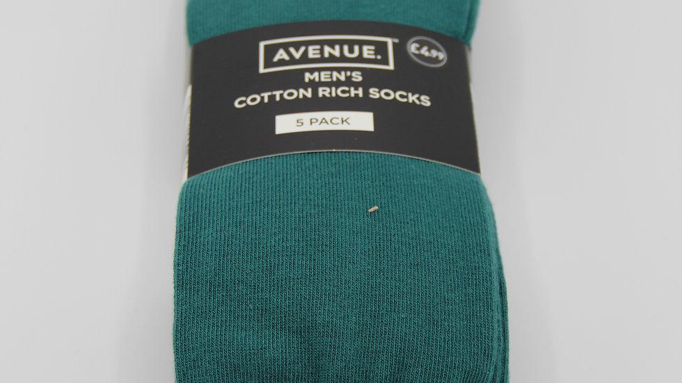 Men's Cotton Rich Green Socks