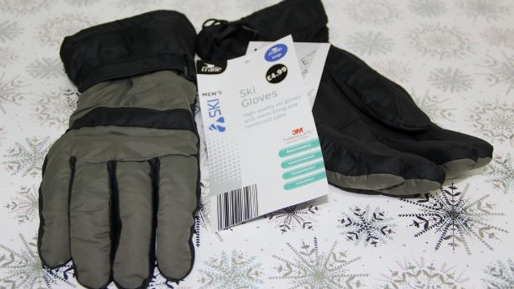 Mens Green Ski Gloves