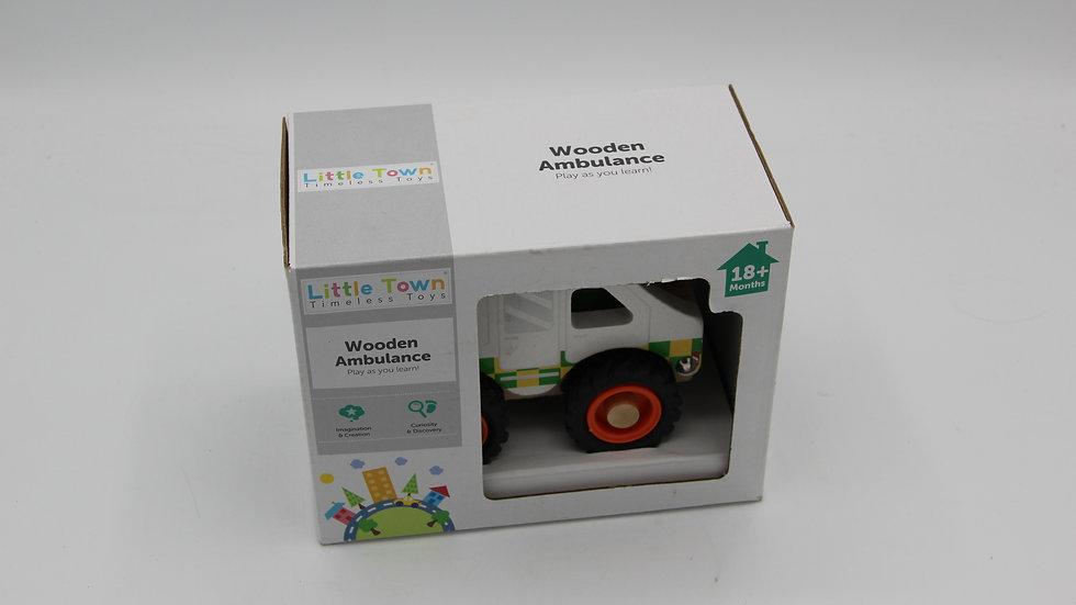 Wooden Ambulance Toy