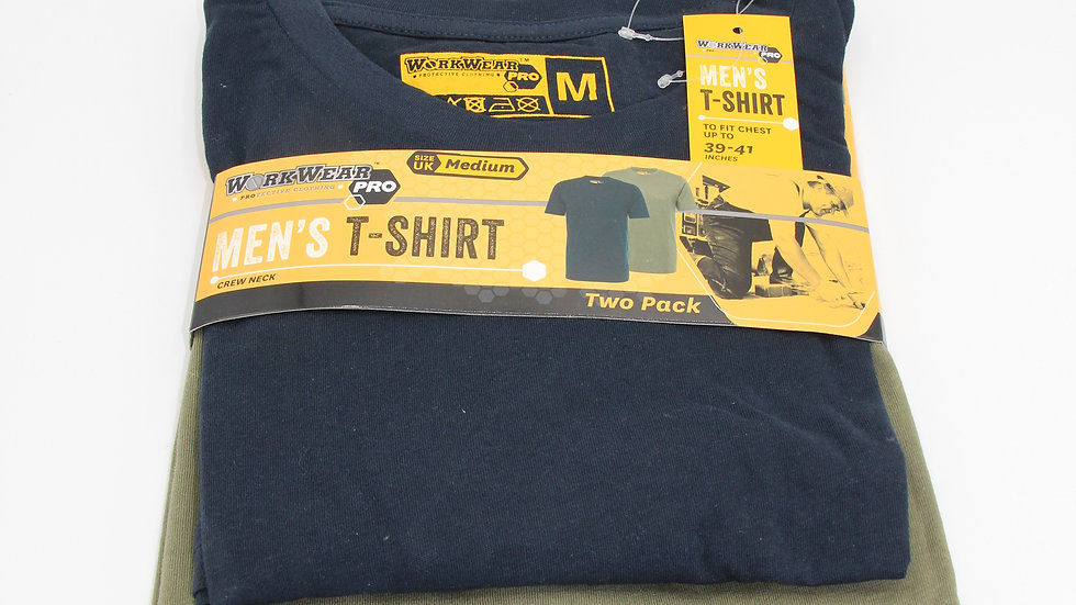 Men's Workwear T-shirts Navy & Green