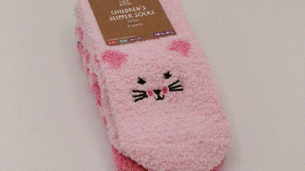Children's Slipper Socks - Cat