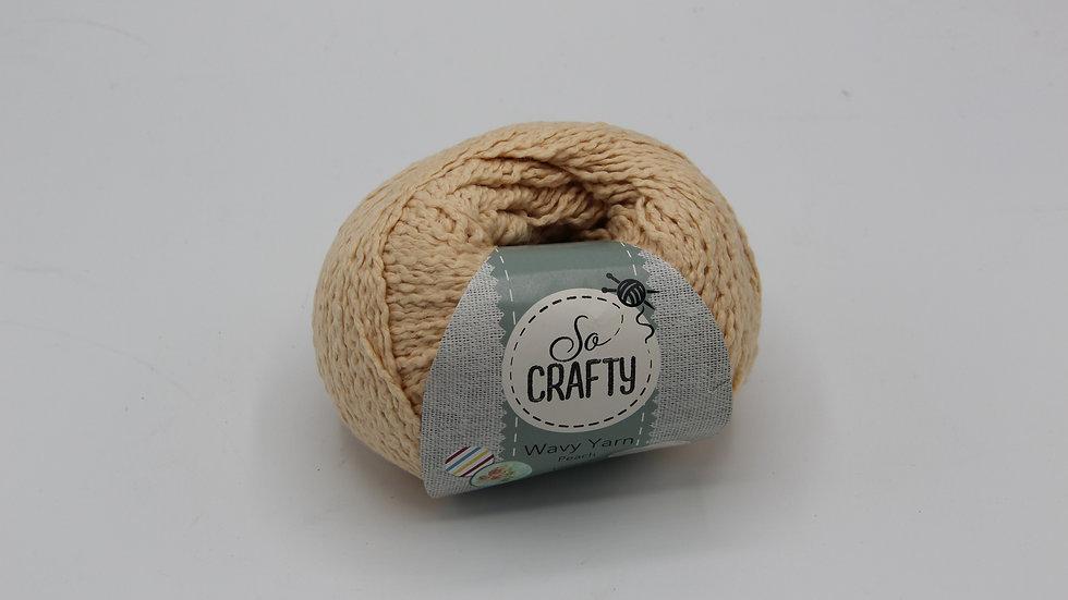 Beige Wavy Wool