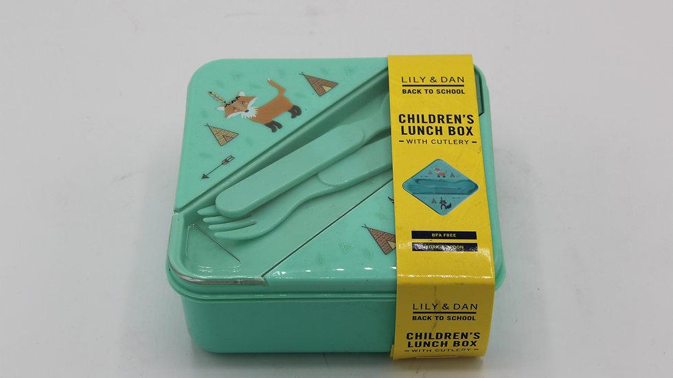 Children'sLunchbox - Fox & Racoon