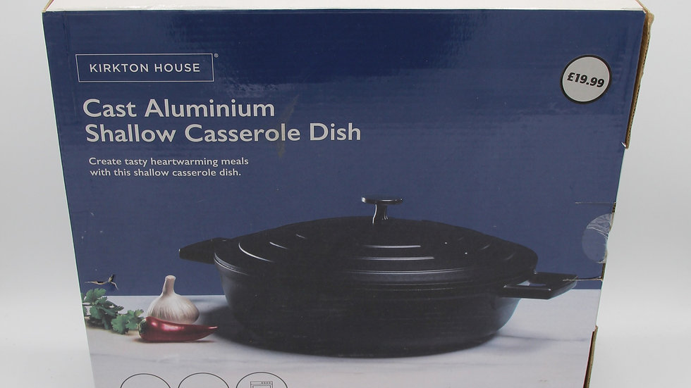 Cast Aluminium Shallow Casserole Dish