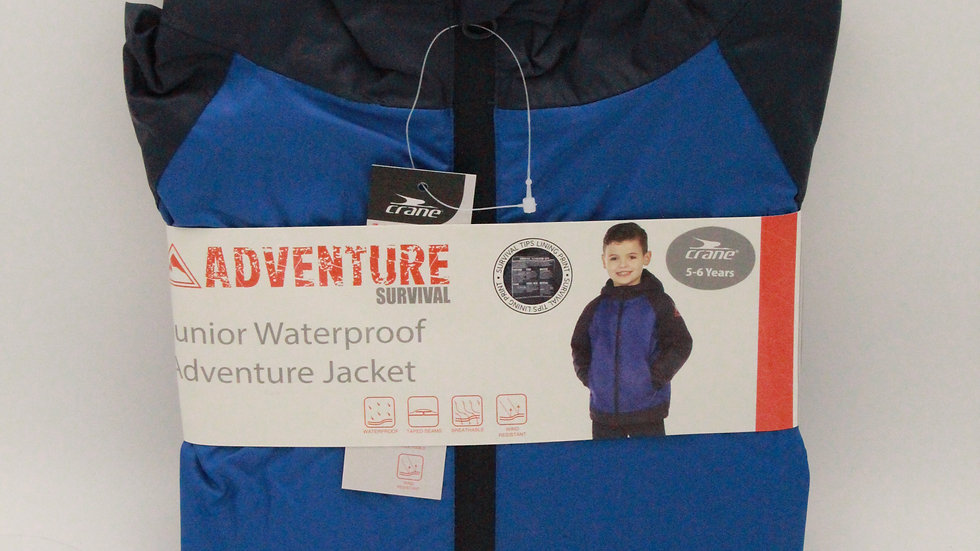 Junior Waterproof Adventure Jacket - Blue Army