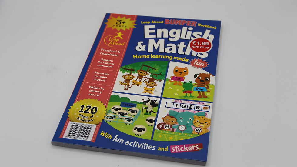 English & Math Bumper Workbook 3+