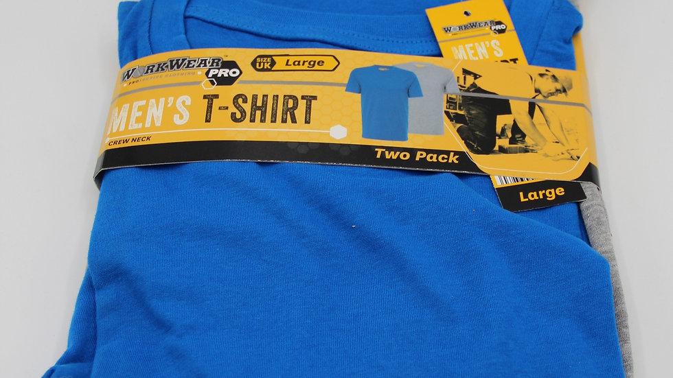 Men's Workwear T-shirts Blue & Grey