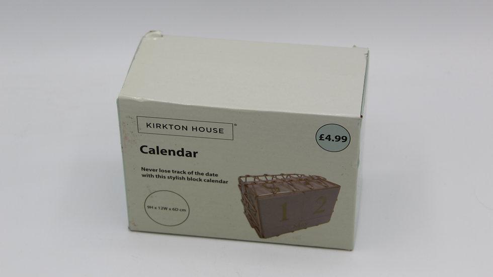 Rose Gold Wooden Calendar
