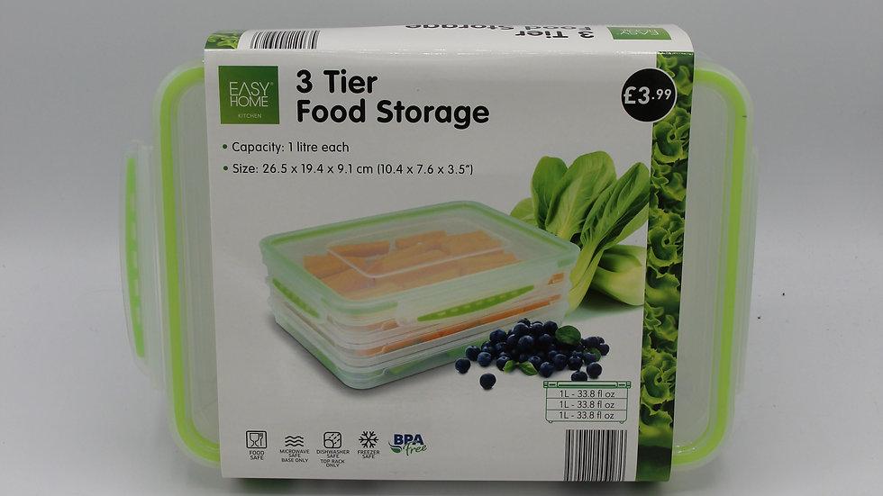 3 Tier Food Storage