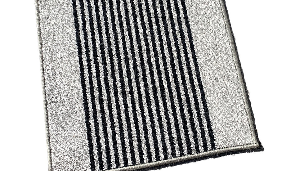 Grey Striped Washable Mat