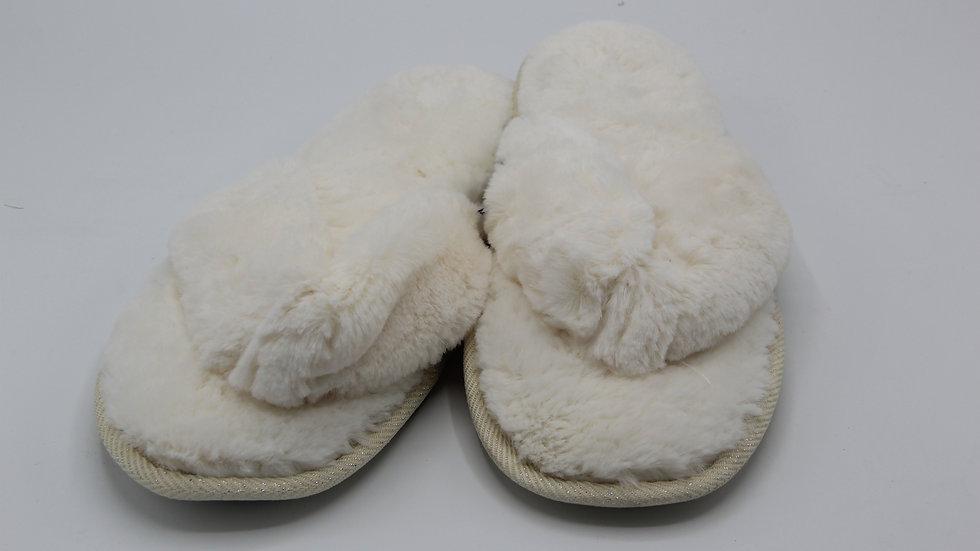 White Ladies Flip Flop Slippers