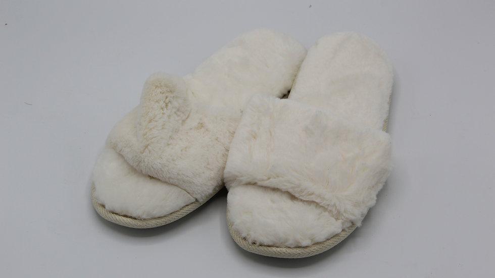White Ladies Slider Slippers