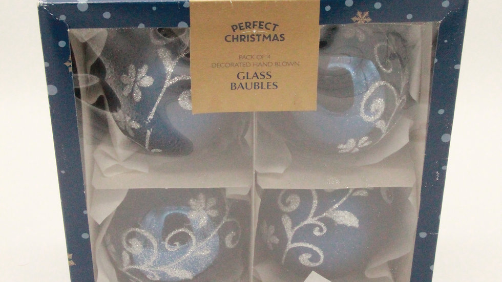 Navy Glass Baubles