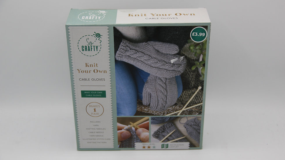 Knit Your Own Cable Gloves