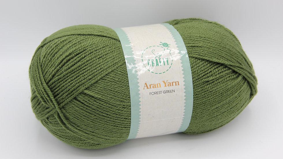 Aran Yarn Forest Green