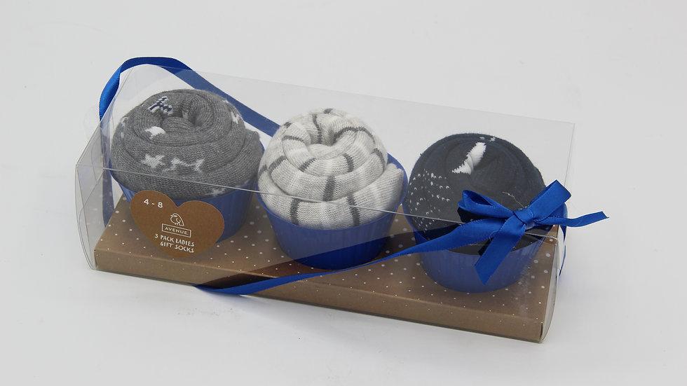 Gifting Socks Grey & Blue
