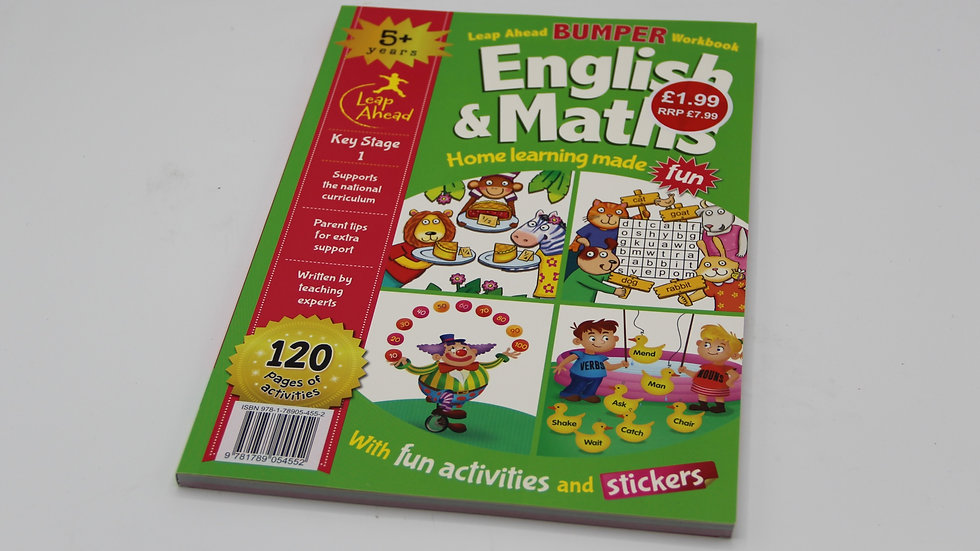 English & Math Bumper Workbook 5+