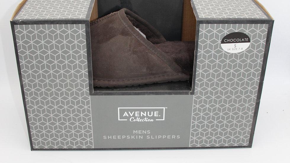 Men's Chocolate Sheepskin Slippers