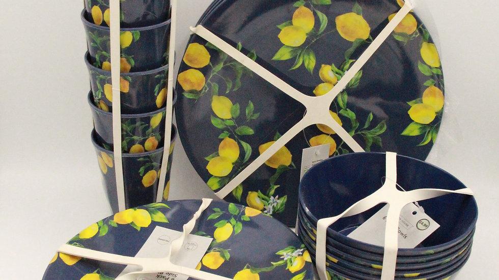 Lemons Melamine Set