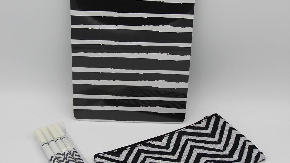 Black & White Stationary Set