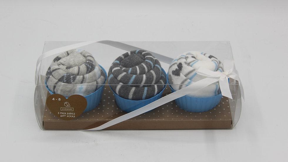 Gifting Socks Grey & White