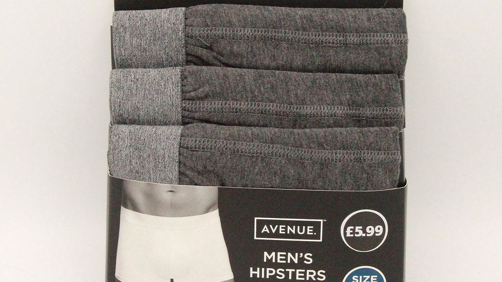 Men's Hipsters - Grey