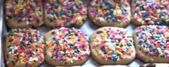 Kosher dairy sprinkles cookies