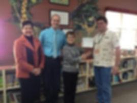 School-Library-Donation-Apprentice-Swordceror-Chris-Hollaway