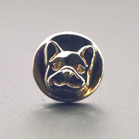 14K French Bull Dog Tie Tac