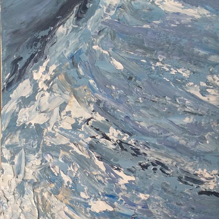 """BLUE WAVE  12"""" x 24"""""""
