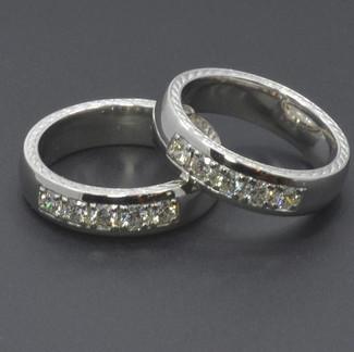 Platinum Diamond Men's Wedding Rings