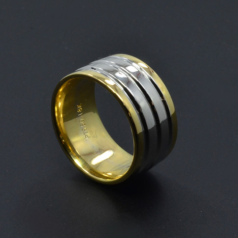 Platinum & 18K Yellow Gold Wedding Band