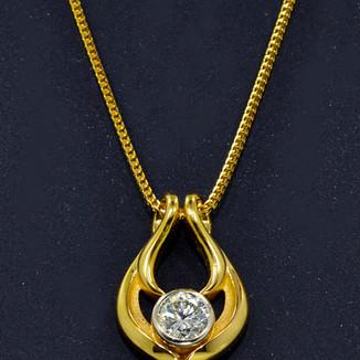 18K Diamond Pendant