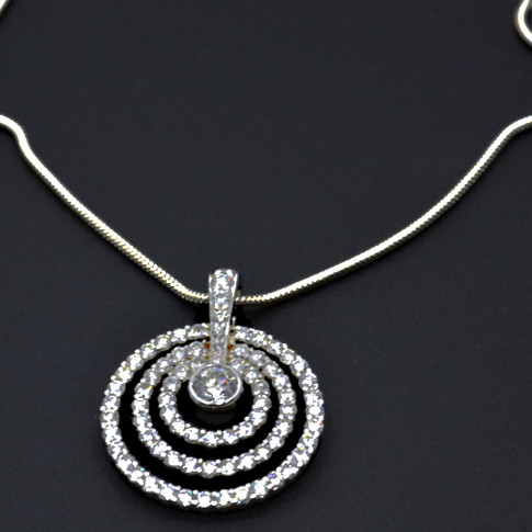 14K Diamond Slider Pendant with 79 diamonds