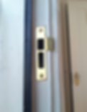 final repars after door frame repairs were completed with enhanced security