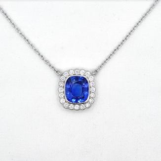 Cornflower Blue Sapphire Pendant