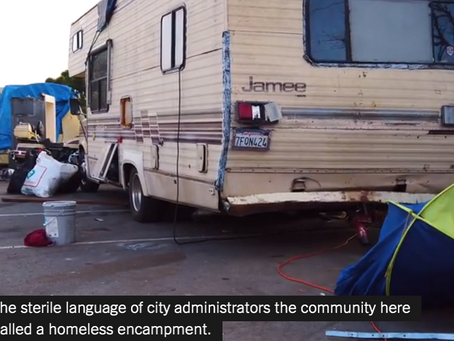 NYT video story about High Street Oakland encampment - mobile friendly