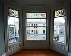image of damaged Victorian stained glass