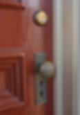 Victorian door in San Francisco