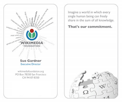 Wikimedia business cards