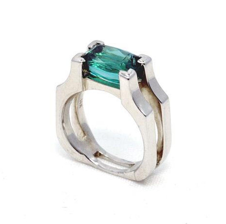 Greenish Blue Brazilian Tourmaline Ring