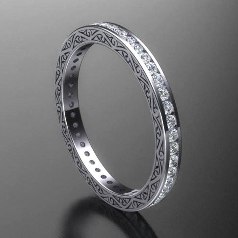 Eternity Style Diamond Wedding Ring