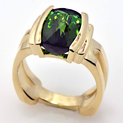Green Brazilian Tourmaline Ring