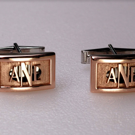 14K Rose and White Gold Cufflinks