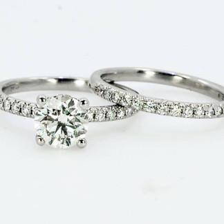 Platinum Diamond Engagement and Wedding Set