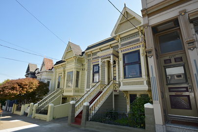 Victorian row house in Noe Valley