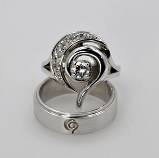 Custom Designed Wedding Ring Set