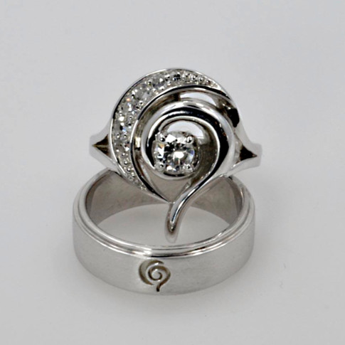 Custom Designed Wedding Ring Set